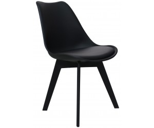 Chaise de salle à manger design noir Frantz