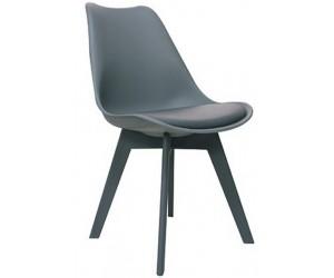 Chaise de salle à manger design gris Frantz