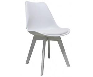 Chaise de salle à manger design blanc Frantz