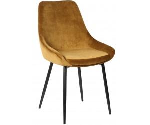 Chaise de salle à manger cuisine design Gold velours BRIT