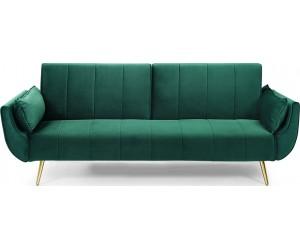 Canapé-lit Divani II 215cm velours vert or