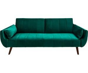 Canapé-lit Divani II 215cm velours vert