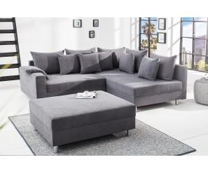 Pouf pour canapé d'angle Loft gris