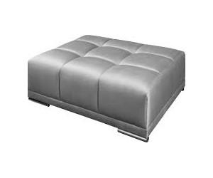 Pouf Elegancia 110cm velours gris argent