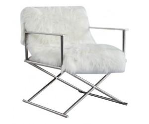 Fauteuille chaises design pied en acier inoxydable LUXURY