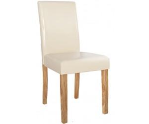 Chaise de salle à manger contemporaine en pu beige BARNEO