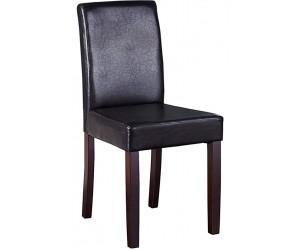 Chaise de salle à manger contemporaine en pu marron BARNEO