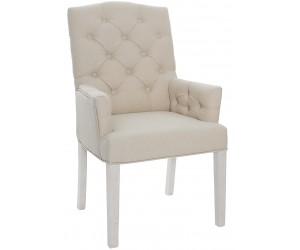 Fauteuille chaise capitonnée avec accoudoirs beige SCOTTY