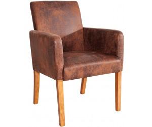Fauteuille chaise avec accoudoirs light coffee VALETTE