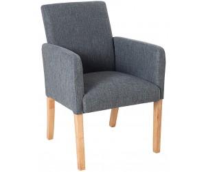 Fauteuille chaise avec accoudoirs gris VALETTE