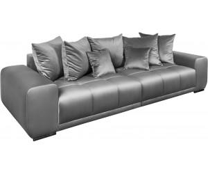Canapé Elegancia 280cm velours gris argent