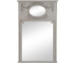 Miroir Ovale/Rectangulaire Fleur Bois Antique Taupe 106X160Cm