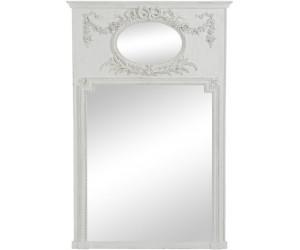 Miroir Ovale/Rectangulaire Fleur Bois Antique Greige