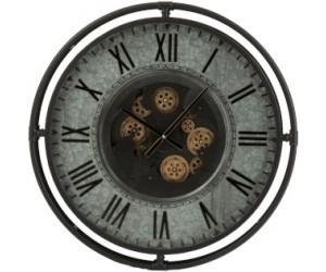 Horloge Bord Metallique Chiffres Romains Metal Gris/Noir/Or Small