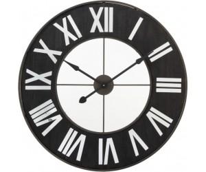 Horloge Chiffres Romains Metal Noir/Miroir