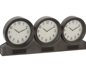 Horloge 3 Parties Metal Marron
