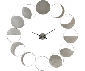 Horloge Murale Disques Metal Gris