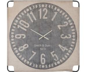 Horloge Murale Canevas Grand Textile Beige/Gris