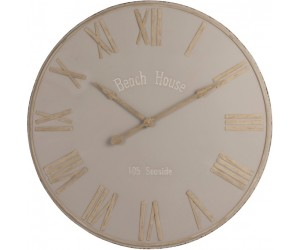 Horloge Beach House Metal Beige Large