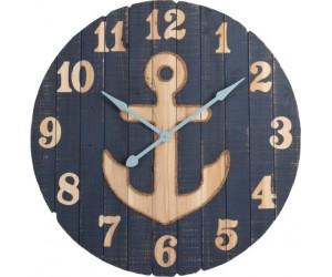 Horloge Ancre Bois Bleu Large