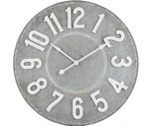 Horloge Ronde Chiffres Metal Gris/Blanc Large
