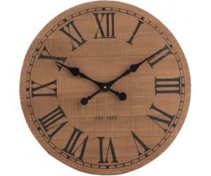 Horloge Ronde Chiffres Romains Bois Naturel Small