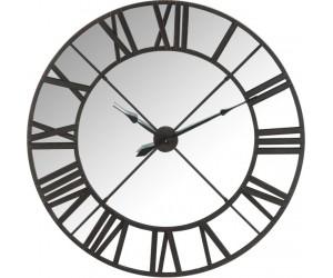Horloge Miroir Chiffres Romais Metal Noir