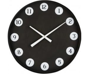 Horloge Ronde Numeros Metal Noir