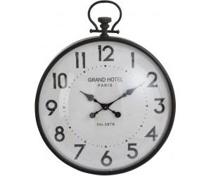 Horloge Boule Ronde Metal Noir Verre Large