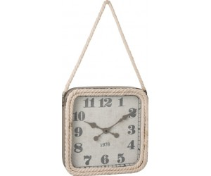 Horloge Carree Corde Metal Gris Small