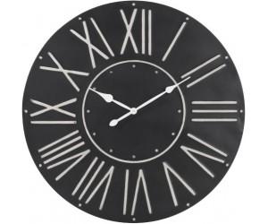 Horloge Ronde Metal Noir Large