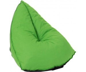 Pouf Poire Triangulaire Polyester Vert