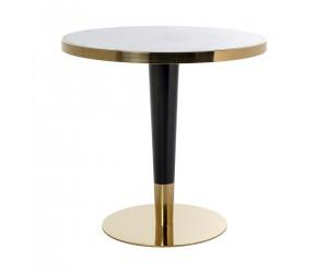 Table de salle à manger ultra design en acier inoxydable silver en marbre SQUARE