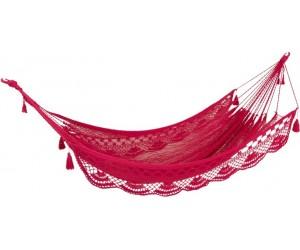 Hamac Crochet Coton Rose