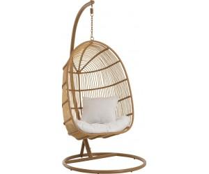 Chaise Suspendue Ovale Acier Naturel