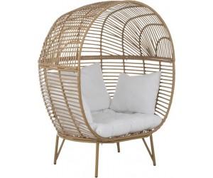 Chaise Lounge Ovale Acier Naturel