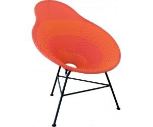Chaise Poire Metal/Plastique Rouge