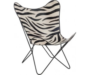 Chaise Salon Cuir/ Metal Zebre