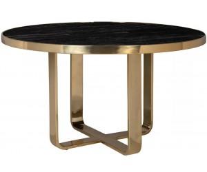 Table à manger luxe round 140Ø incl. verre VERONIQUE
