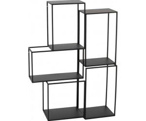 Etagere Suspendue 3 Parties Modulaire Metal Noir