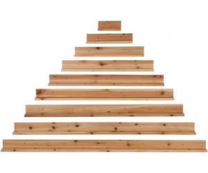 Planches Murales Forme De Pyramide Bois Naturel