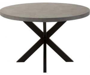 Table Bar Rond Bois/Metal Naturel/Noir
