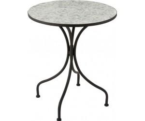 Table Eclat Mosaique Metal/Verre Noir/Bleu Ciel