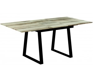 Table à manger extensible caractéristique robuste et chic chêne vieilli/noir VENEDIC