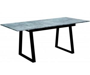 Table à manger extensible caractéristique robuste et chic Béton/noir VENEDIC