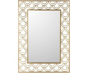 Miroir Arcs De Cercle Rectangulaire Metal/Verre Or