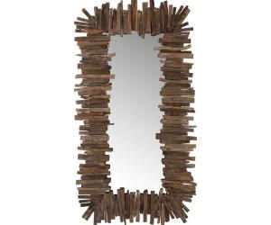 Miroir Rectangulaire Morceaux Bois Recycle Marron Large