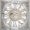 Horloge mural carré bronze Owen