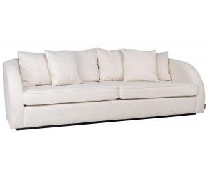Canapé 3-places avec 6 coussins White/Gold Darwin