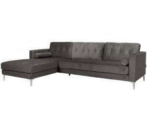 Canapé d'angle 2,5 places Stone Velvet Louissa